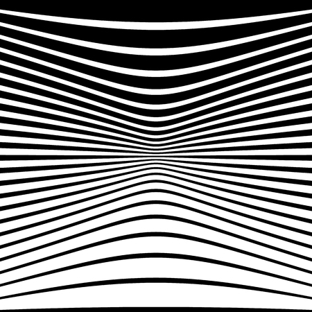 abstractionism: Warped, distorted lines abstract monochrome pattern  background. For your designs
