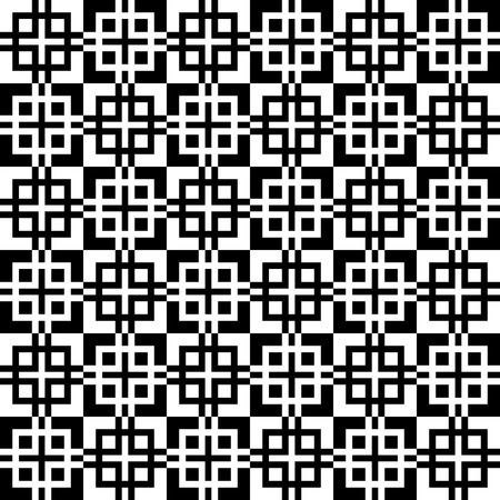 monocrome: Monochrome, seamlessly repeatable pattern, abstract black and white background. Vector.