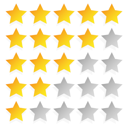 star rating: Star rating template with 5 stars. Quality, product, service review, user experience concepts.