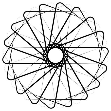 Résumé circulaire, élément en spirale sur blanc. Vecteur.