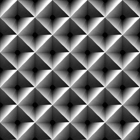blocky: Grayscale geometric pattern with outline of squares.
