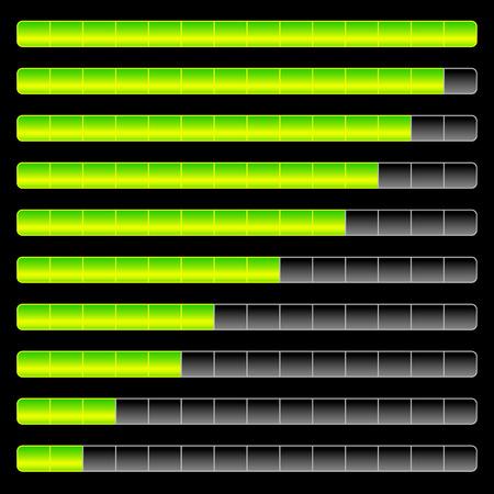 benchmark: Horizontal progress, loading bar templates. vector illustration.