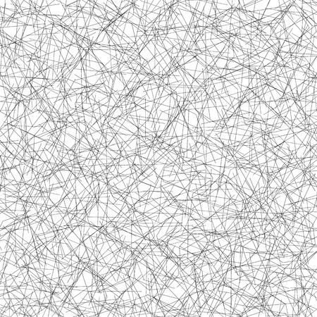intersecting: Monochrome pattern with irregular, random lines. Straight, intersecting lines editable vector texture