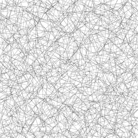Monochrome pattern with irregular, random lines. Straight, intersecting lines editable vector texture