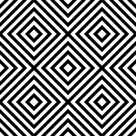 centric: Centric squares black and white, abstract illustration. (Repeatable at edges.)