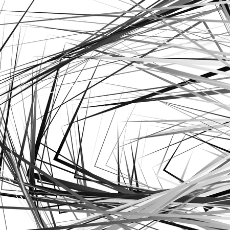 Rough vector texture with edgy rectangular shapes. Abstract grayscale pattern  background.