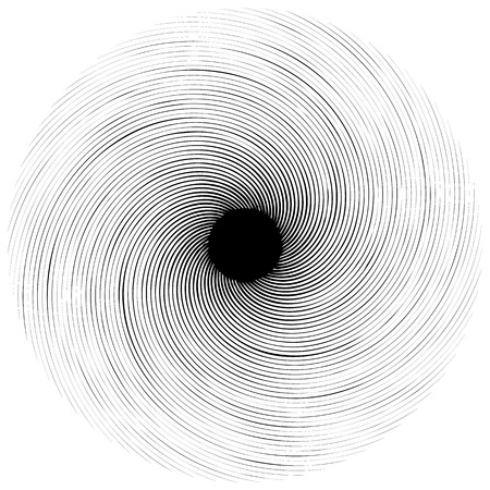 anomalous: Abstract swirly shape. Black and white vector. Illustration