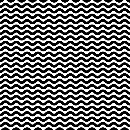 undulate: Wavy, billowy lines seamless pattern. Vector illustration.