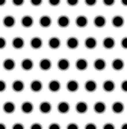 spiky: Seamless pattern with pointed, spiny, spiky shapes. Minimal, monochrome background.