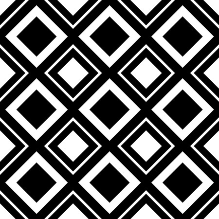 Square pattern. Seamlessly repeatable monochrome background with square shapes. Illustration