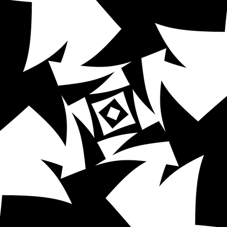 abstractionism: Abstract black and white background. Vector art.
