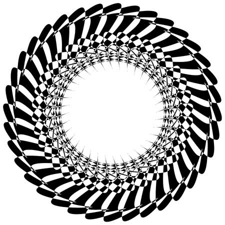 Spirale abstraite, élément virevoltant isolé sur blanc. Forme abstraite vecteur