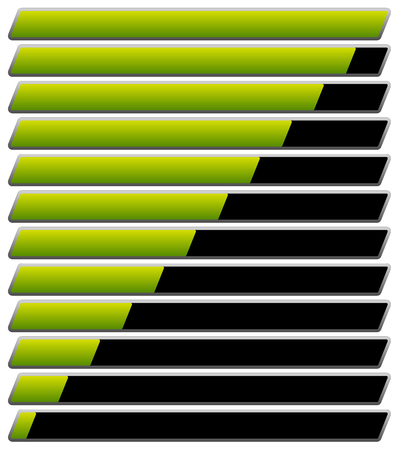 horizontal: Horizontal progress, loading bar templates. vector illustration.