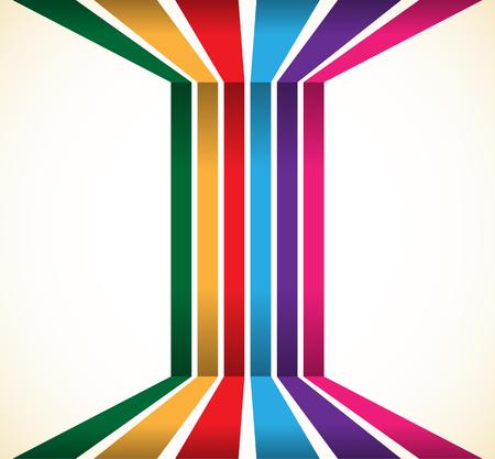 Abstracte kleurrijke strepen, lijnenelement. Vector illustratie. Vector Illustratie