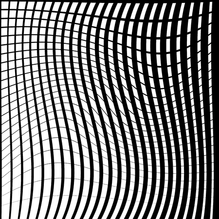 distorted: Warped, distorted lines abstract monochrome pattern  background. For your designs