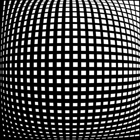 warped: Warped, distorted lines abstract monochrome pattern  background. For your designs