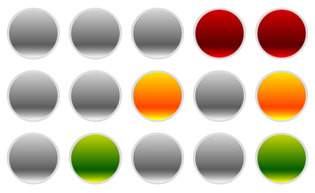 trafficlight: Traffic lamps, lights in sequence. Control lights. Illustration