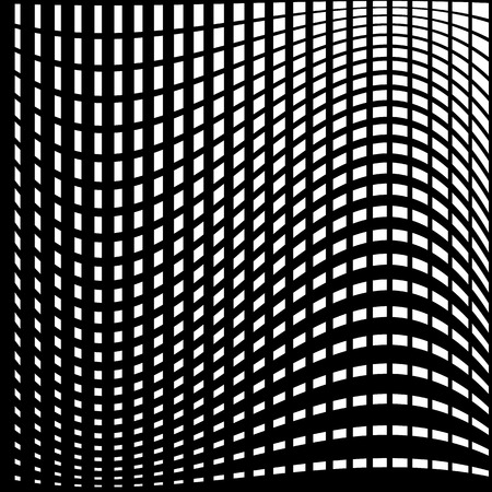 Warped, distorted lines abstract monochrome pattern  background. For your designs