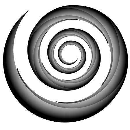 volute: Abstract spiral, twirl element, volute shape. Vector.