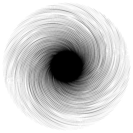 misshapen: Abstract swirly shape. Black and white vector. Illustration