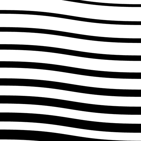 billow: Wavy lines monochrome abstract image. Vector illustration. Illustration