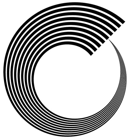 volute: Abstract spiral, volute, helix element. Vector art.