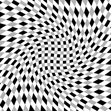 anomalous: Grayscale, monochrome squared pattern with distortion effect.