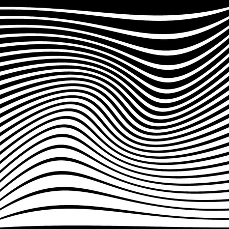 anomalous: Warped, distorted lines abstract monochrome pattern  background. For your designs