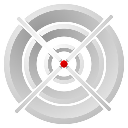 pinpoint: Cross hair, target mark, Circular reticle vector illustration.