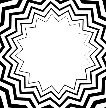 volute: Abstract spiral, helix or volute with wavy - zigzag effect. Illustration