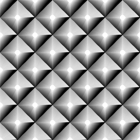 grayscale: Grayscale geometric pattern with outline of squares.
