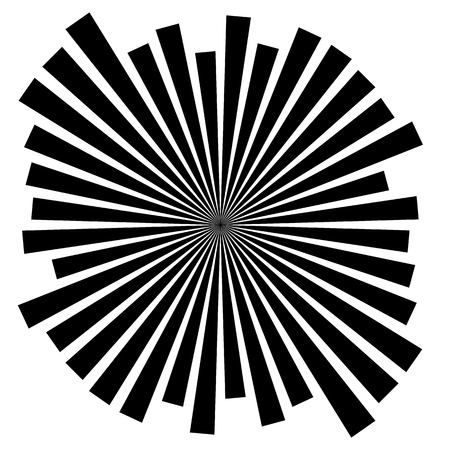 radiating: Abstract converging, radiating lines monochrome vector element