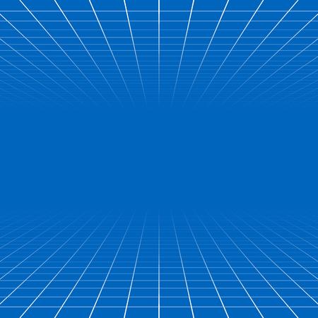 tiefe: Fading und Gitter verschwinden, Netz 3d abstrakt