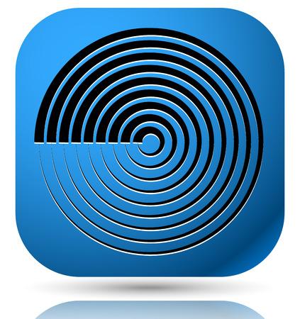 c�clico: icono gen�rico con c�clico circular s�mbolo, l�neas conc�ntricas Vectores