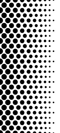 Dotted, polka dot black and white seamlessly repeatable pattern.