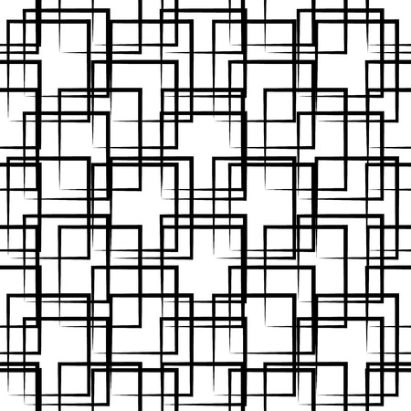 grillage: Abstract seamless geometric background  pattern. Monochrome repeatable vector texture.