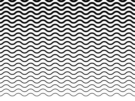 Wavy (zigzag) lignes motif. Horizontalement parfaitement reproductible.