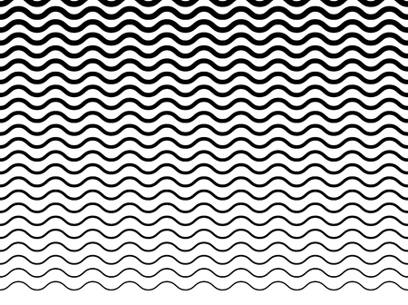 Wavy (zigzag) lines pattern. Horizontally seamlessly repeatable.