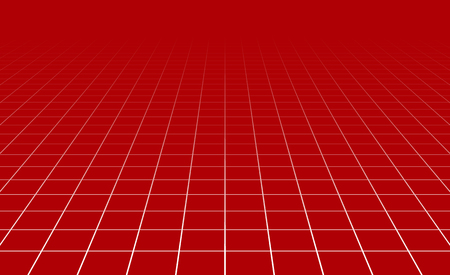 three points: Fading and vanishing grid, mesh 3d abstract background Illustration