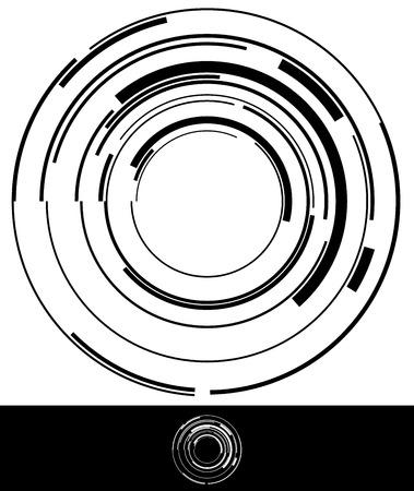 5 개의 추상적 인 기하학적 프레임 또는 1 개의 기하학적 요소 세트 일러스트