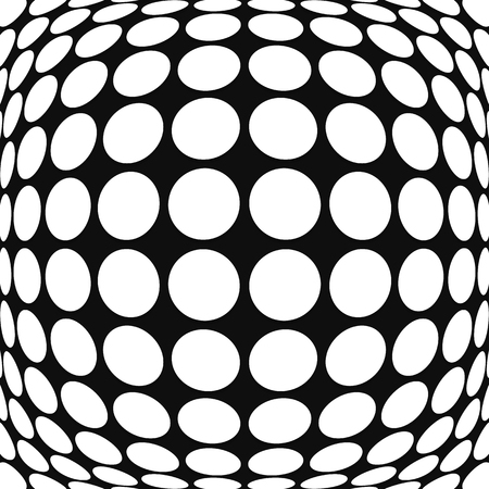 convex: Abstract circle pattern with convex, protuberant deformation effect.