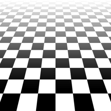 horizont: Vanishing checkered surface. 3d surface in perspective. Vector background. Illustration
