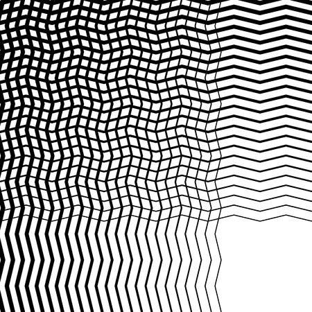 criss cross: Intersecting wavy lines pattern  texture. Editable vector art.