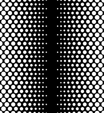 speckle: Dotted, polka dot black and white seamlessly repeatable pattern. Illustration