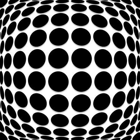 salient: Abstract circle pattern with convex, protuberant deformation effect.