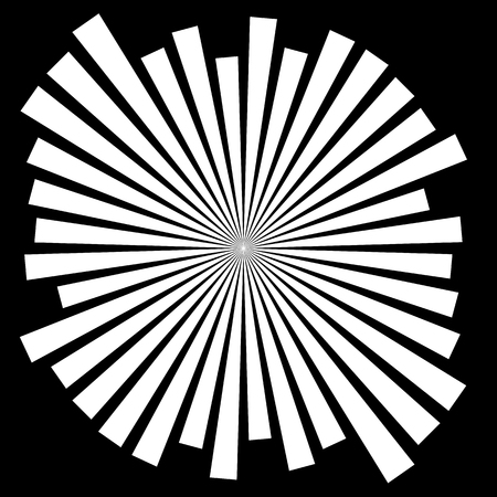 converging: Abstract converging, radiating lines monochrome vector element