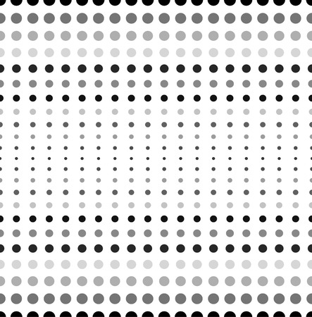 polkadots: Dotted, polka dot black and white seamlessly repeatable pattern. Illustration