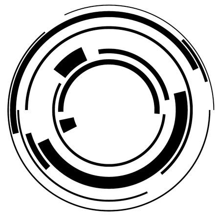 segmented: Abstract hi-tech segmented geometric circle shape isolated on white