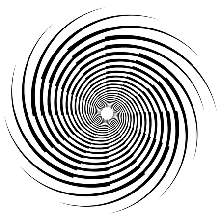 abstractionism: Abstract spiral, swirl, twirl element. Editable vector graphic.