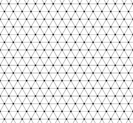 mesh: Abstract grid, mesh pattern with nodes. Seamlessly repeatable abstract monochrome vector texture.